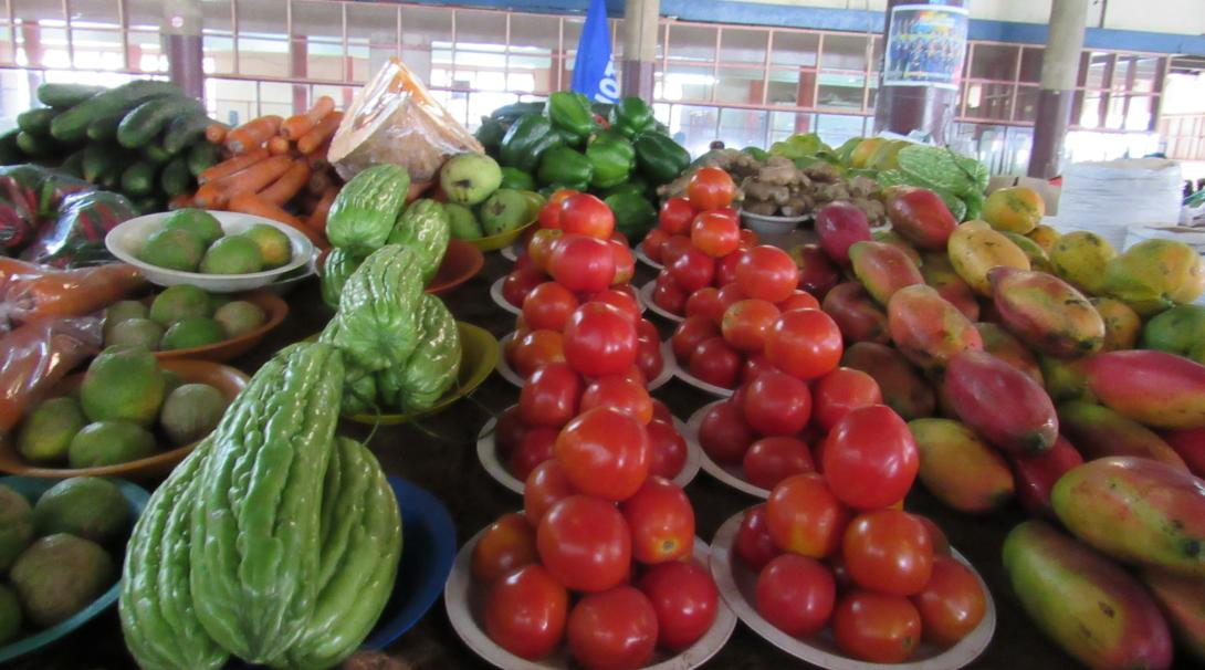After doing some volunteer work in Fiji you can enjoy some fresh produce at a market in Lautoka
